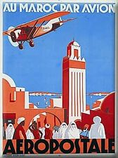 French Advertising Travel Sign - Aeropostal Morocco