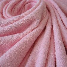 Stoff Meterware reine Baumwolle rosa weich Frottee Frotté doppelflorig