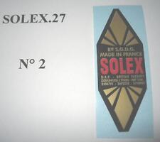1  AUTOCOLLANT  LOSANGE  SP  GM  SOLEX  VELOSOLEX