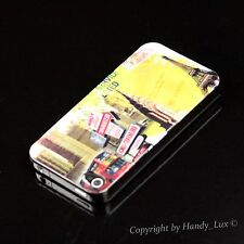 Apple iPhone 4 4S Hard Case Schutz Hülle Cover Etui Motiv Paris Eiffelturm