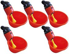 (5) AUTOMATIC WATERER DRINKER CUPS CHICKEN COOP POULTRY CHOOK BIRD TURKEY DRINK
