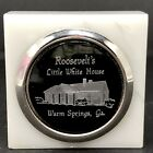 """Vtg Roosevelt's Little White House Warm Springs Georgia 2"""" Marble Paperweight"""
