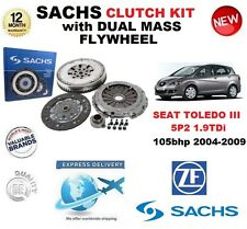 FOR SEAT TOLEDO III 5P2 1.9 TDi 105bhp 2004-2009 SACHS CLUTCH KIT with FLYWHEEL