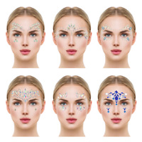 Face Crystal Sticker Eye Crafted Body Jewels Festival Temporary Tattoo Glitter