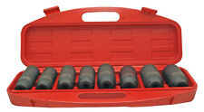8pc 1/2 Drive Metric Deep Axle Nut Impact Sockets Set Spindle 29-39mm BSSAN8P