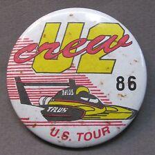 1993 T-PLUS U2 CREW U.S. TOUR #86 hydroplane boat racing pinback button