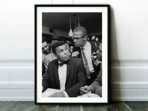 Muhammad Ali & Malcolm X Poster  Wall Art Decor
