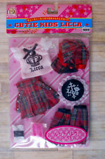Set Licca outfit clothes Punk vintage Jenny Blythe Takara Tomy shoes skirt Dal