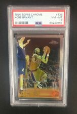 1996-97 Topps Chrome NBA Basketball PSA 8 GRADED ROOKIE #138 Kobe Bryant RC LA