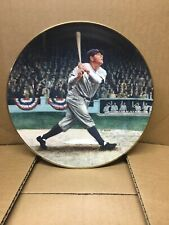 Babe Ruth Called Shot Plate With Card And Certificate Of Authenticity Numbered