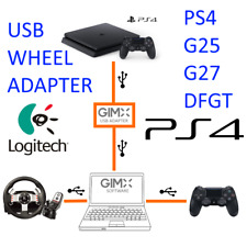GIMX USB WHEEL/MOUSE ADAPTER - Logitech G27, G25, DFGT, MOUSE on PS4