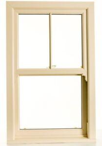 Cream UPVC Sash Windows, Sliding Sash Any Size £329 inc VAT & FREE FAST Delivery
