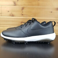 NIKE Roshe G Tour Golf Shoes AR5580-001 Mens Black Leather $110 NEW