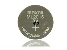 MAXELL ML2016 Batterie 3V Wiederaufladbar Akku Battery Batteria Batterij 11