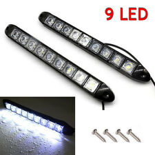 2x White DC 12V 9-LED Daytime Running Light DRL Car Fog Day Driving Lamp Lights
