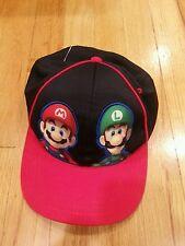 d43c308a604 New Super Mario Bros Nintendo Wii Promo Hat Cap Strap Back Luigi Retro