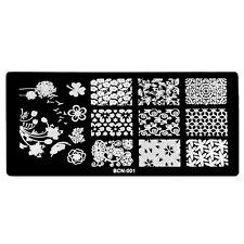 Manicure Konad Nail Art Image Stamp Stamping Plates Swirl Flowers BCN01