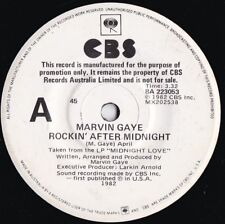 Marvin Gaye ORIG OZ Promo 45 Rockin' after midnight NM '82 CBS Soul Quiet storm