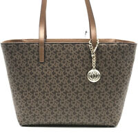 DKNY Bryant Signature Tote NEW OSFA BROWN