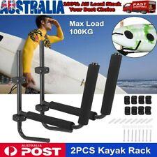 2 X Kayak Storage Rack Carrier Watercraft Paddle Surfboard Holder Wall 100kg