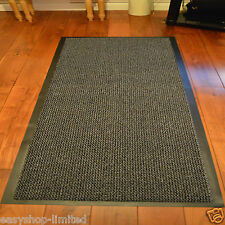 Large Small Kitchen Heavy Duty Barrier Mat Non Slip Rubber Back Door Rugs Dirt Grey/black 120 X 180cm