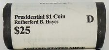 "2011 D Rutherford B. Hayes Presidential ""Unopened"" Mint Dollar 25 Coin ROLL"
