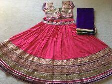 Designer Navaratri Chaniya choli Garba Dance costume Pink & purple M/L