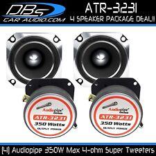 "4 Audiopipe ATR-3231 3"" Super Loud Bullet Tweeter 1400W 4-ohm Car Audio Speaker"