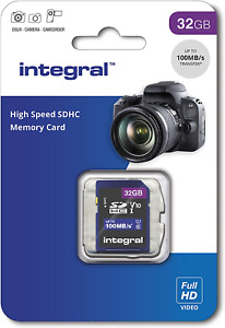 Integral 32GB SD Card High Speed Memory SDHC Up To 100MB/S V10 UHS U1