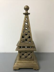 Vintage Solid Brass Pyramid / Eiffel tower (Decorative Crafts )15'' Tall