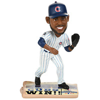 Dexter Fowler Chicago Cubs 2016 World Series Newspaper Base Bobblehead MLB