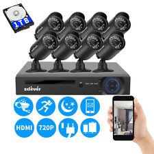 8CH 1080N CCTV HDMI DVR 1500TVL Outdoor 720P Security Camera System 1TB HDD 8cam