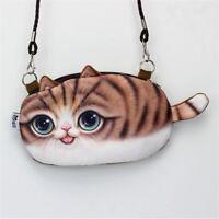 Messenger Shoulder Cute Pouch Cartoon Cat Bag Coin Purse Zipper Closure