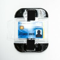 Black High Visibility Security SIA Doorman Bouncer Armband ID Badge Holder