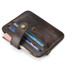 New Men Mini Leather Wallet Slim Credit Card ID Card Holder Purse  Money Clip