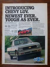 old 1977 1978 1979 1980 Chevy Chevrolet LUV 4x4 Mikadao pickup truck magazine ad