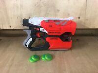 NERF VORTEX DIATRON BLASTER Disc Shooter Xls Twin Shot White Ammo Disc