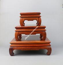 bonsai stand display China red hard wood rosewood wooden 1 set 3PC square base