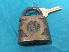 Antique Yale & Towne Padlock w/ Key Blanks - 84426 - Locksmith