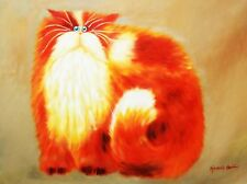 Pop Art - Chubby Cat Walther 80x110 cm Oil Painting