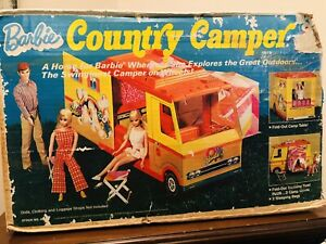 Vintage 1970 Mattel Barbie Country Camper in Original Box