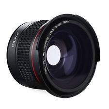 58MM Fisheye 0.35X HD Weitwinkel Nahaufnahme Objektiv für Canon Nkon Olympus