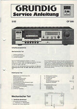 Grundig Service guía manual CF 500 b885