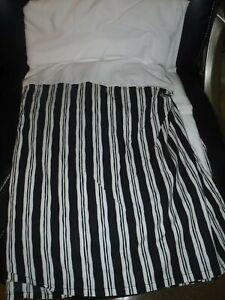 Lauren Ralph Lauren Queen Size Bedskirt Black White Stripes