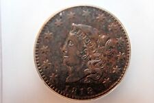 1819 Coronet Head Large Cent, Small Date,ICG, XF40