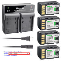 Kastar Battery Rapid Charger for JVC BN-VF815 & GZ-MG155 GZ-MG150EX GZ-MG150US