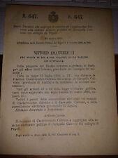 REGIO DECRETO 1908 AGGR CASTELVECCHIO CALVISIO SEZ CARAPELLE CALVISIO  , POPOLI