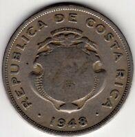 1948 COSTA RICA 50 CENTIMOS NICE COIN