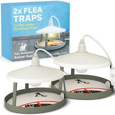 More details for electric flea trap killer lamp home 2 x pest control sticky refill non-poisonous