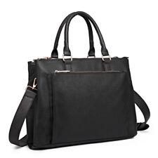Miss Lulu Ladies PU Leather Briefcase Large Laptop Handbag Bag Work Shoulder Bag
